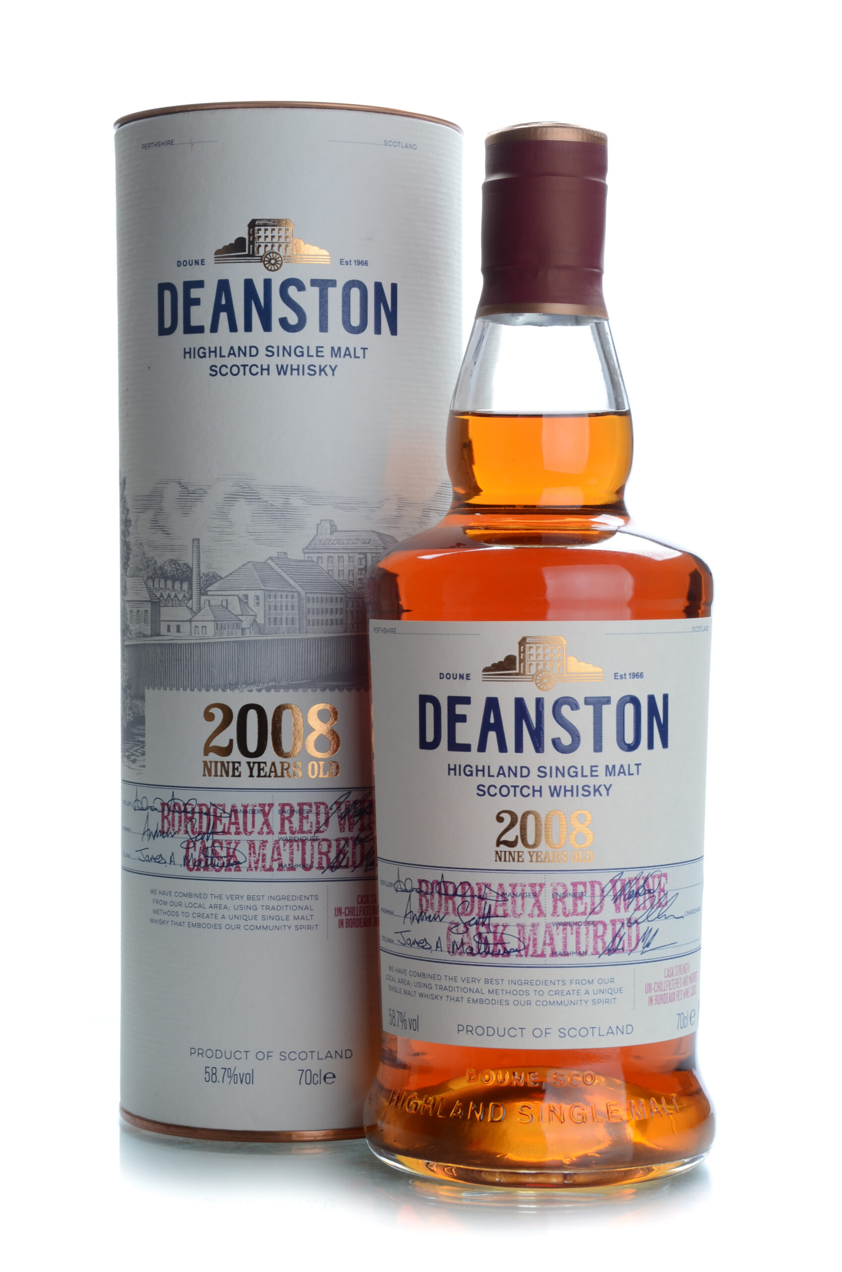 Deanston 9 years bordeaux