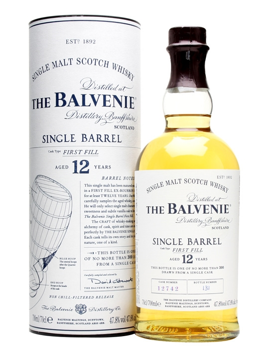 The Balvenie single barrel bourbon  12 Y.O. 47.8°