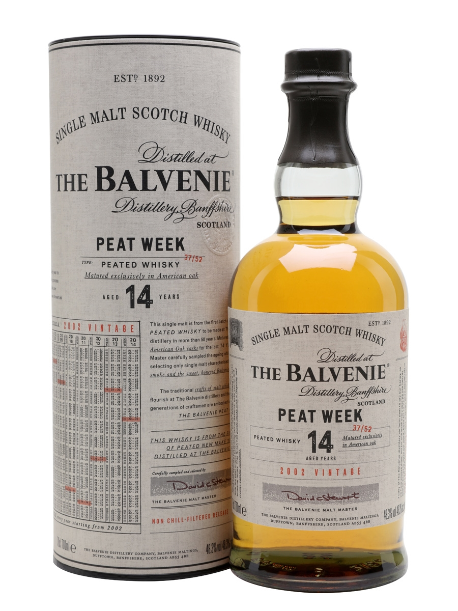 The Balvenie: 14 y.o. peated week 48.3°