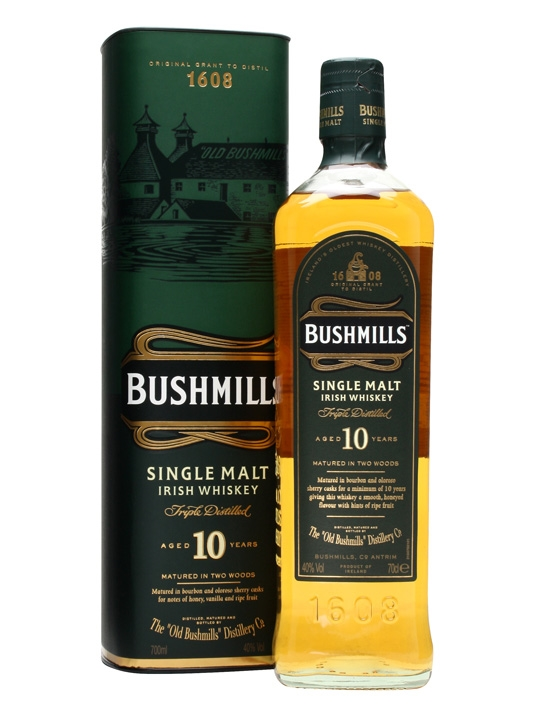 Bushmills Irish Malt 10 Y.O.  40°