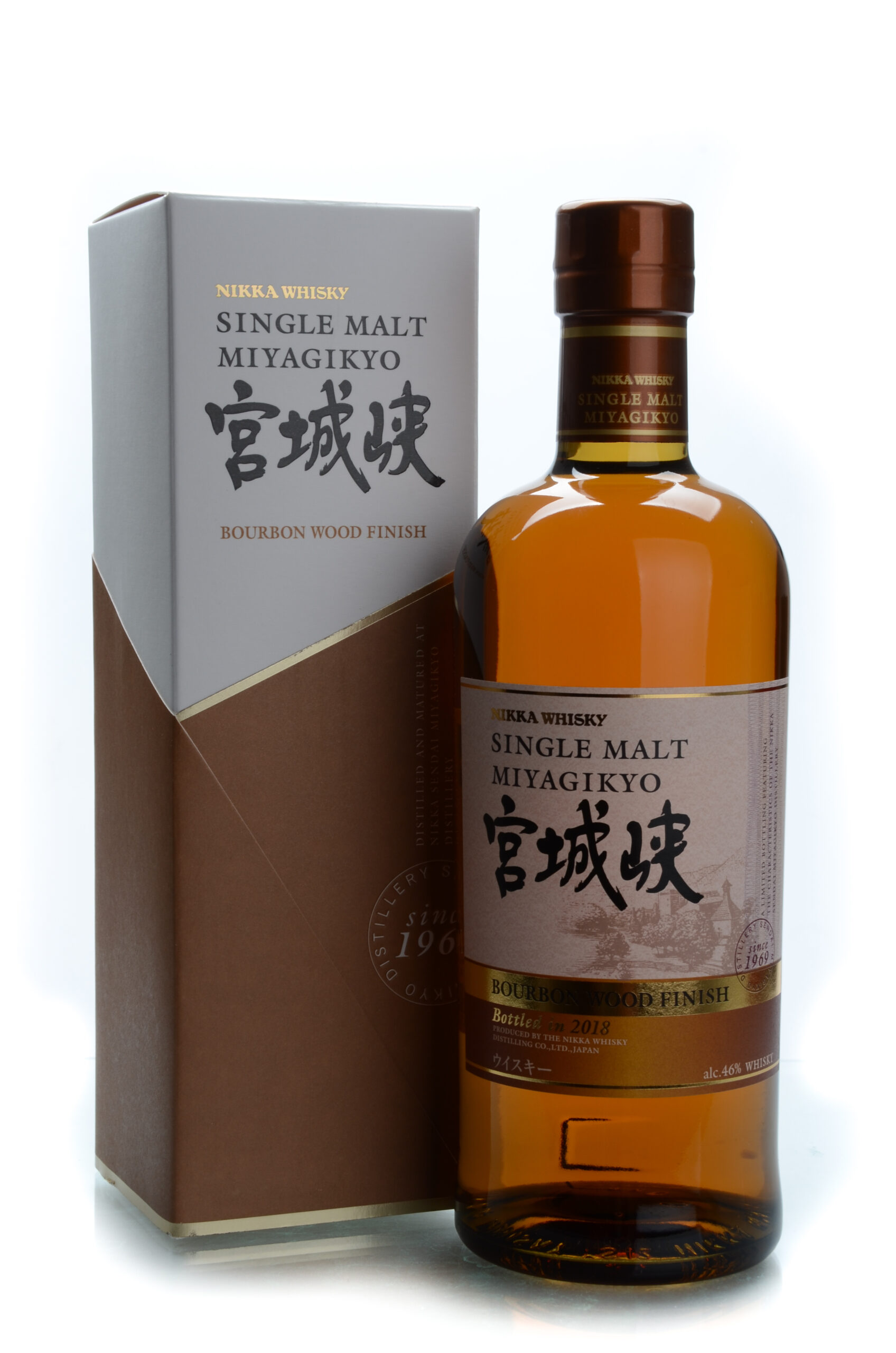 Nikka whiskey single malt Miyagikyo bourbon wood finish