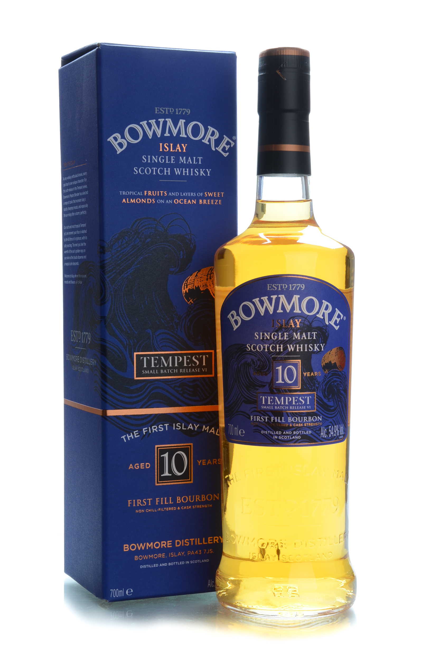 Bowmore 10y tempest release 6 54.9