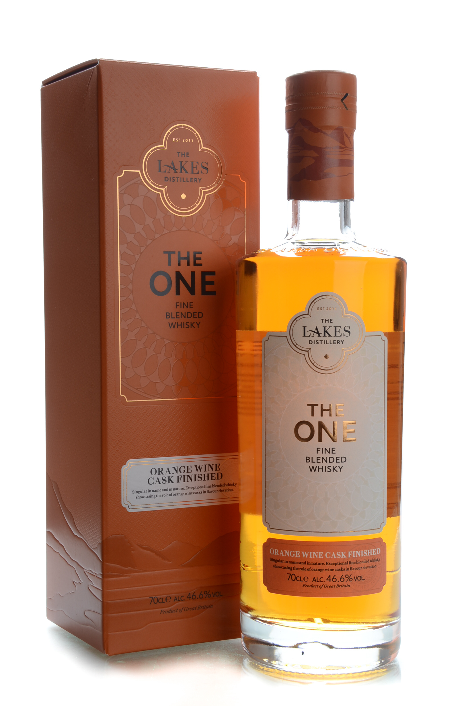 the lakes the one orange wine cask